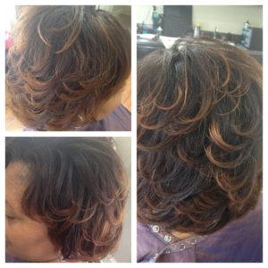 Black Hair Salon Montgomery AL - Layered Cut