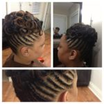 Natural Hair Updo with Pin Curls